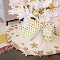 Ideas For Decorating My Living Room Christmas Floating Wall Units Glitter Star Tree Skirt Diy (no Sew!) - A Beautiful Mess
