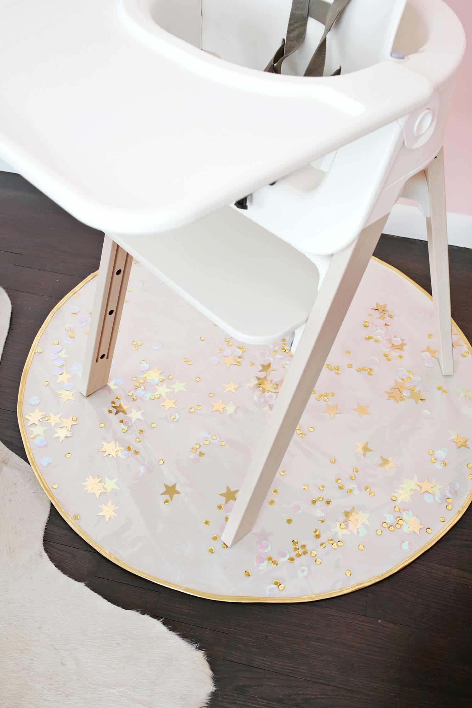 diy wood chair mat metal bistro chairs sale sequin confetti high a beautiful mess