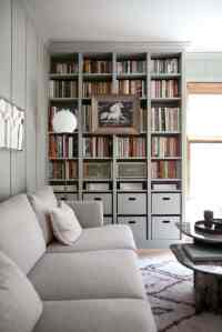 Built-In IKEA Billy Bookcase Hack - A Beautiful Mess