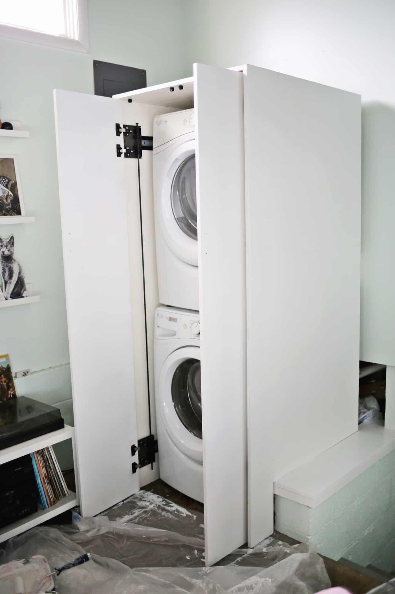 Hidden Washer and Dryer Cabinet  OBSiGeN