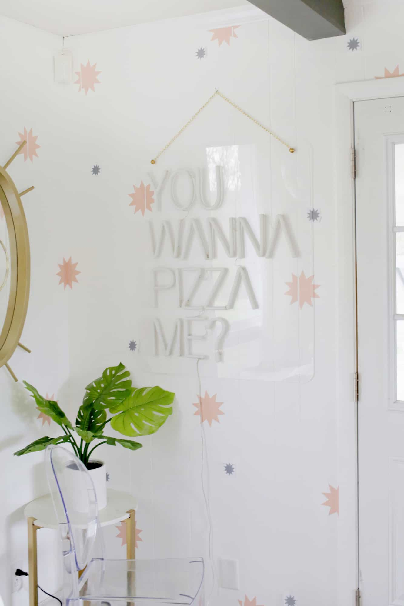 Removable Star Wallpaper Diy A Beautiful Mess
