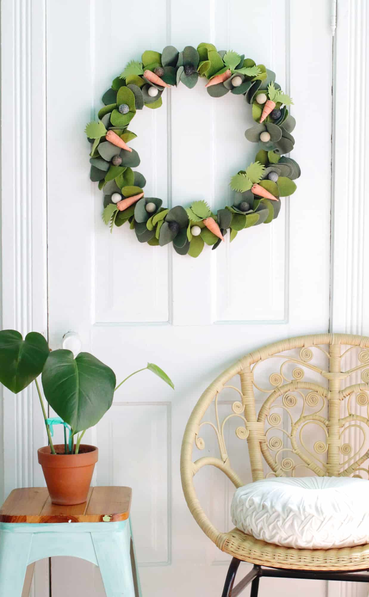My Home 24 Spring Wreath Diy - A Beautiful Mess