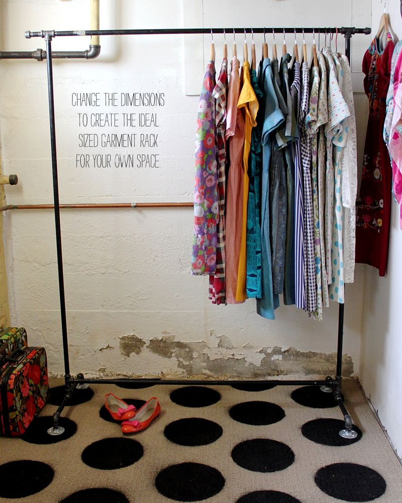 garment rack d i y a beautiful mess
