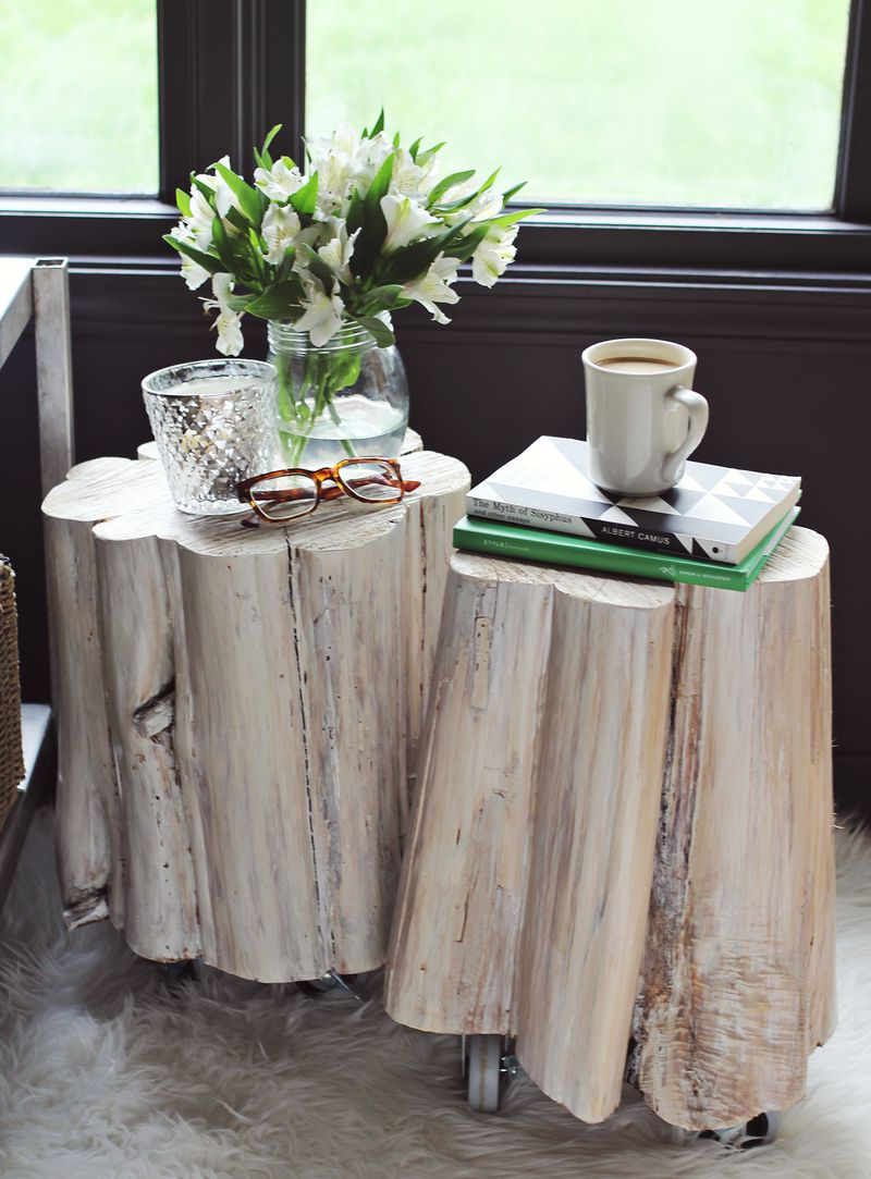 tree trunk side table uk marcuscable com