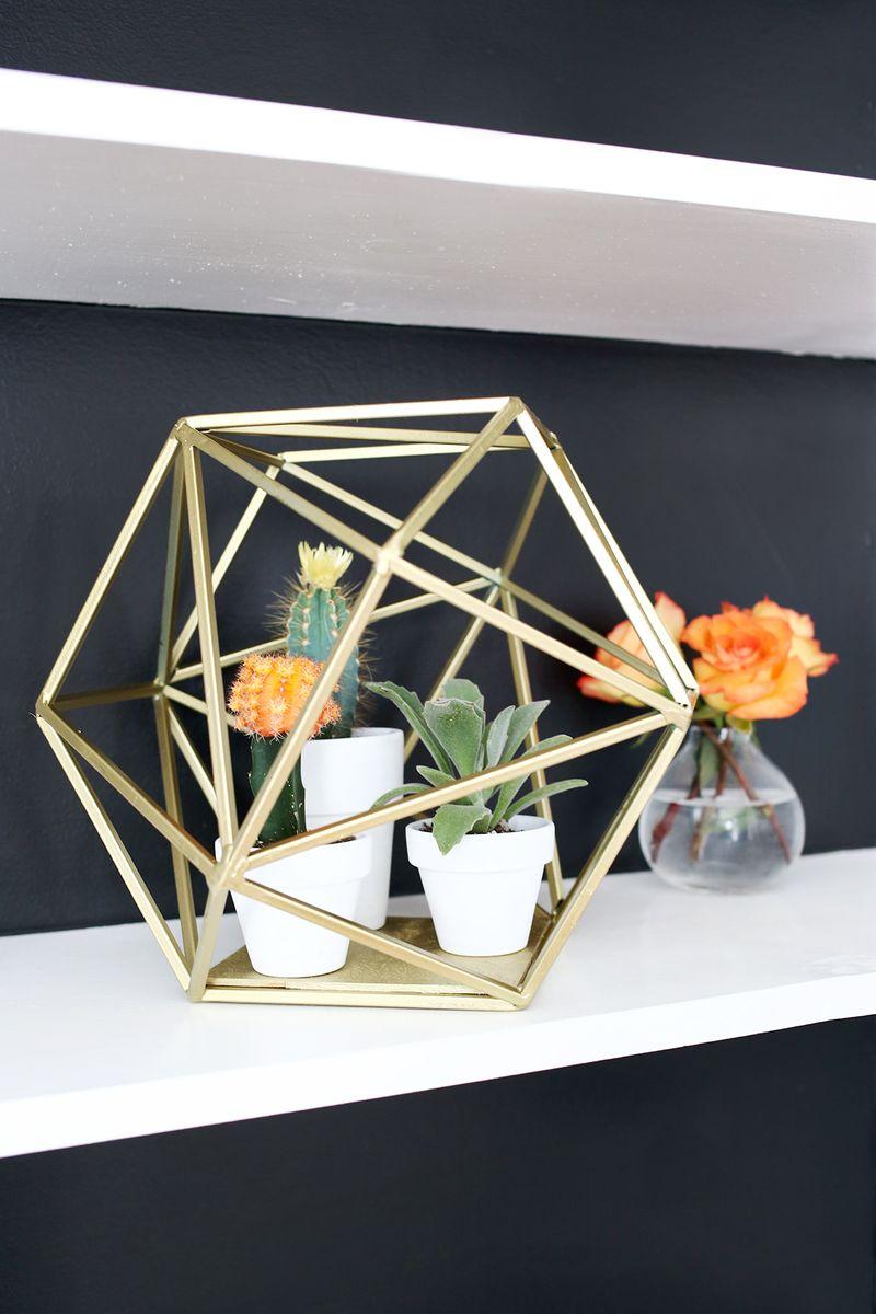 Geometric Decor : geometric, decor, Geometric, Globe, Planter, Beautiful