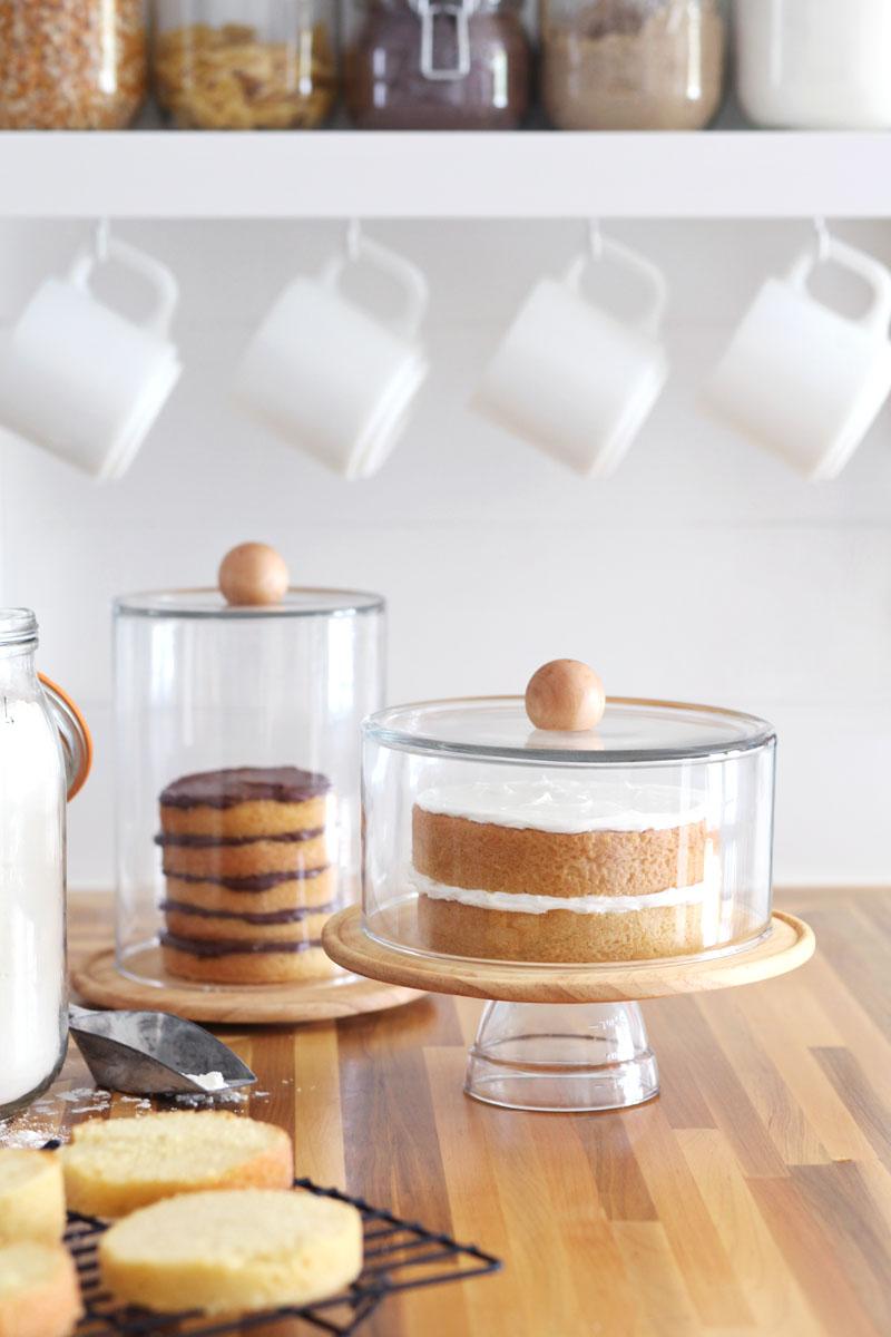 diy cake dome cloche jars a beautiful mess