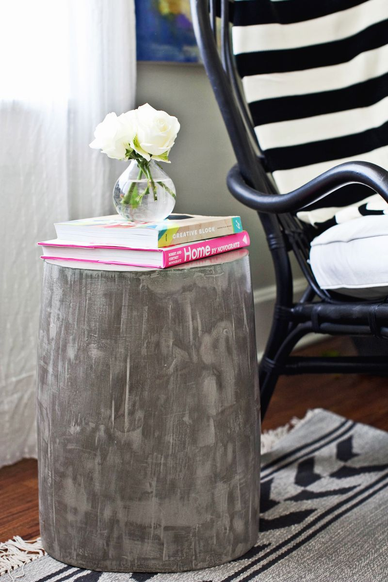 diy lightweight cement side tables a