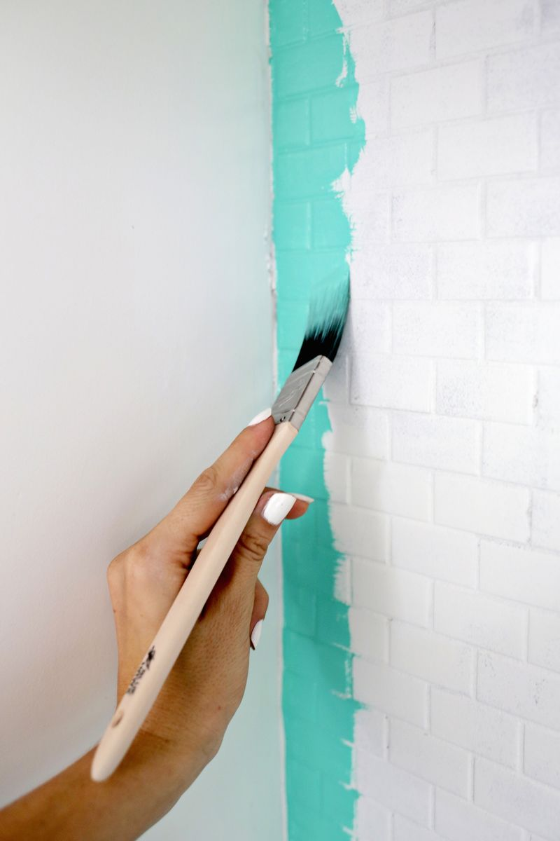 how to paint a tile backsplash a