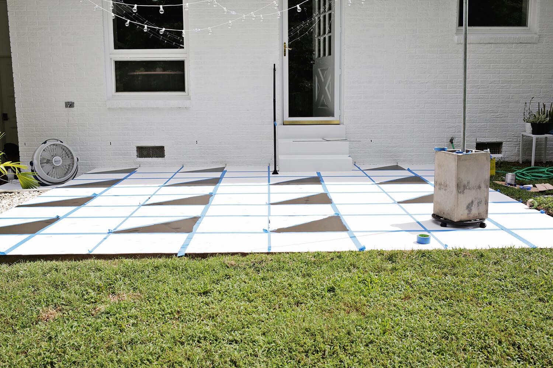painted patio tile diy a beautiful mess