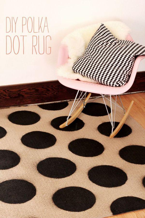 Diy Polka Dot Rug - Beautiful Mess