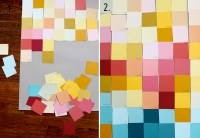 Modern Wall Art with Paint Swatches!  A Beautiful Mess