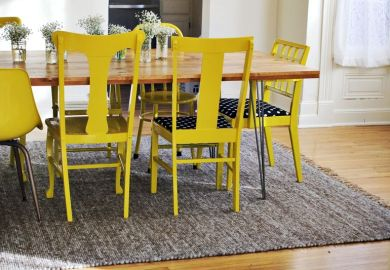 Yellow Painted Dining Chairs