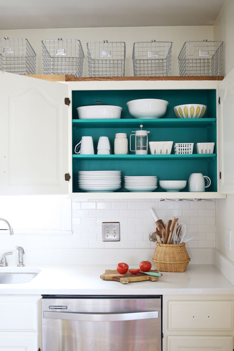 Kitchen Cabinet Inside Nesting: Colored Kitchen Cabinets – A Beautiful Mess