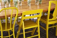Nesting: Yellow Painted Chairs - A Beautiful Mess
