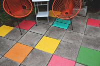 Elsie's Painted Patio Tiles - A Beautiful Mess