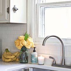 Lowes Kitchen Counter Tops Small Recycling Bins For Home Tour: Elsie's - A Beautiful Mess