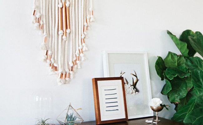 Copper Pipe Wall Hanging Diy A Beautiful Mess