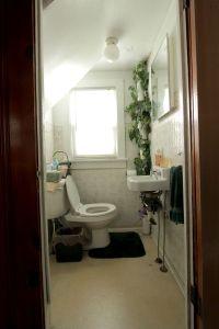 ABM Studio: The Tiny Bathroom (Before)  A Beautiful Mess