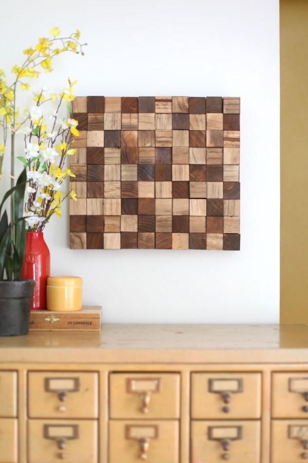 Wooden Mosaic Wall Art Diy Beautiful Mess