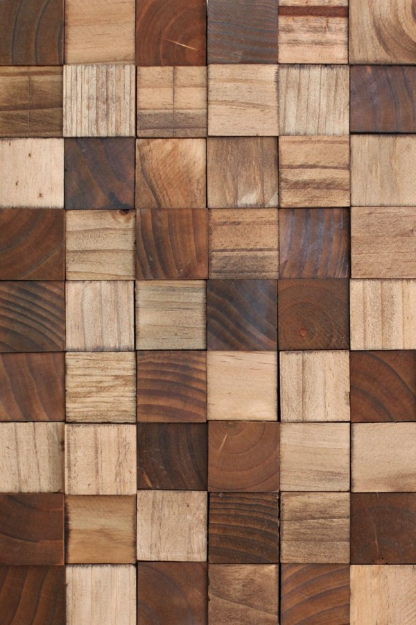 Wooden Mosaic Wall Art Diy - Beautiful Mess