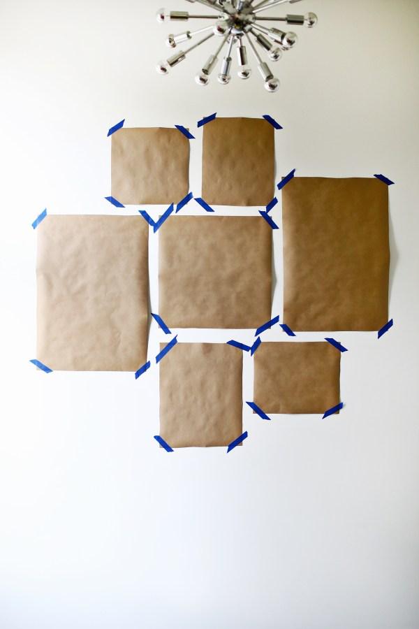 Colored Mat Wall Idea - Beautiful Mess