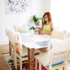 Dining Room Chair Bottom Covers Funky Bed Diy Faux Fur And Cushions A Beautiful Mess