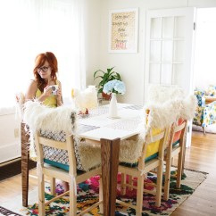 Faux Fur Chair Cover Leopard Print Diy Covers And Cushions A Beautiful Mess