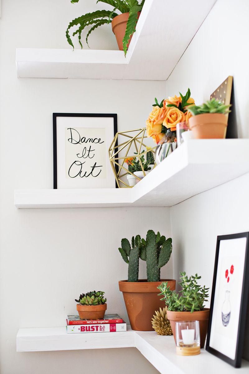 DIY Floating Corner Shelves  A Beautiful Mess