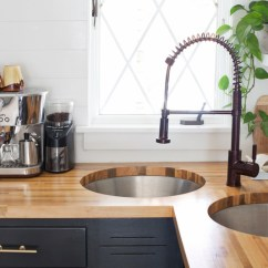 Inexpensive Kitchen Countertops Country Light Fixtures Installing Butcher Block Counters With An Undermount Sink ...