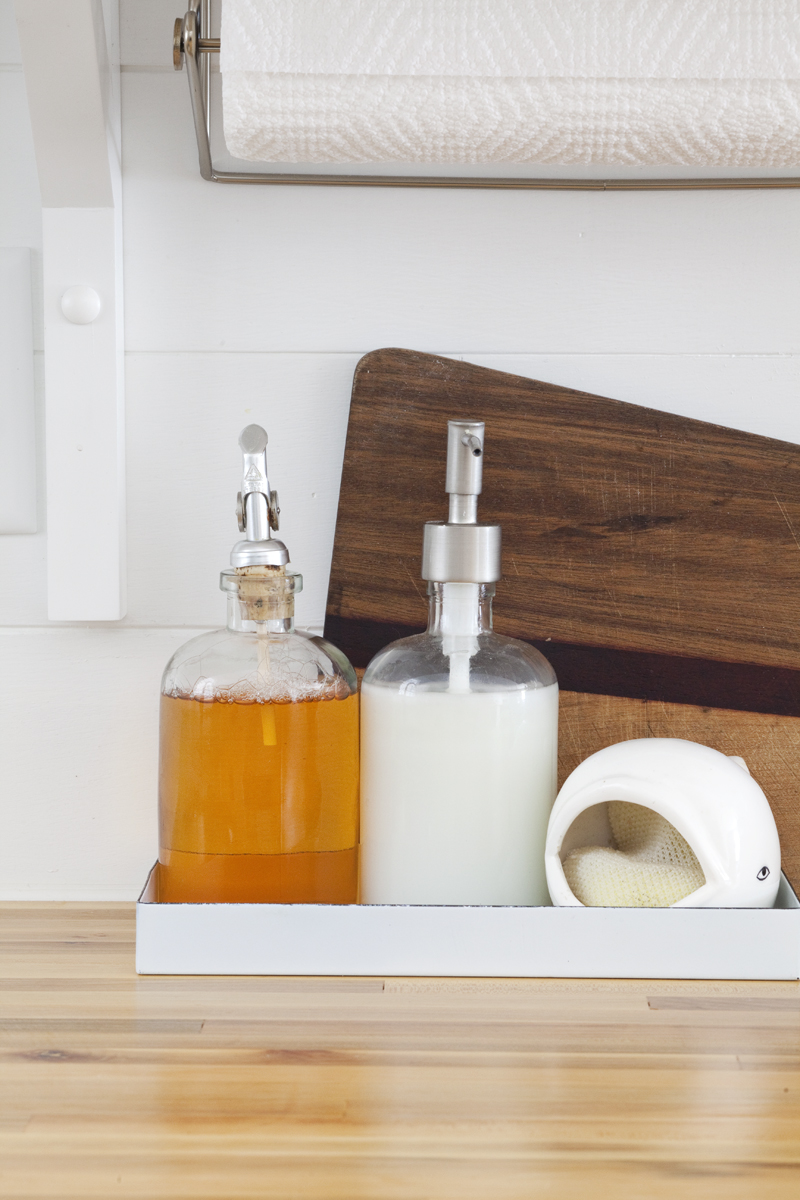 kitchen soap caddy white kitchens cabinets installing butcher block counters with an undermount sink ...