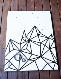Try This: Easy (Washi Tape) Wall Art - A Beautiful Mess