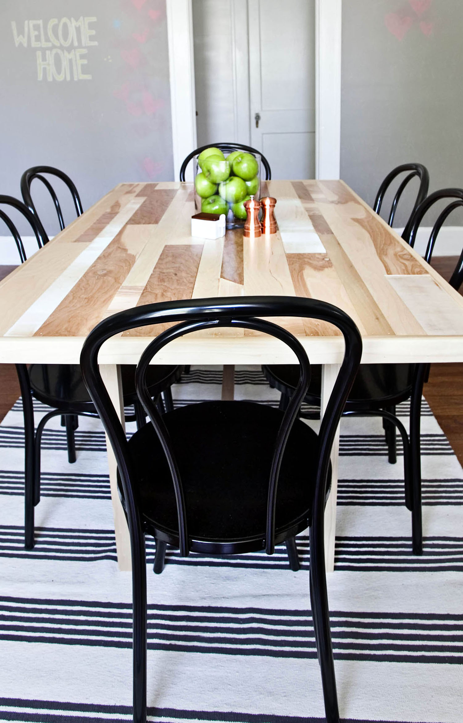 Diy Six Seat Dining Room Table  A Beautiful Mess