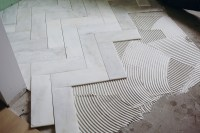 Try This: Herringbone Marble Tile