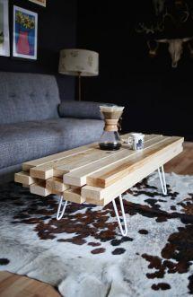 Diy Wooden Coffee Table Beautiful Mess