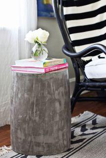 Diy Lightweight Cement Side Tables - Beautiful Mess