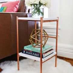Diy Living Room Side Tables Tv Stand For Small Copper Pipe Table A Beautiful Mess
