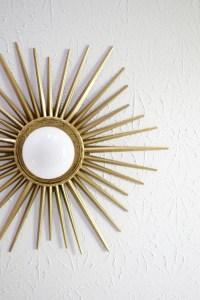 Sunburst Mirror Medallion DIY - A Beautiful Mess