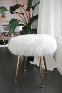 Make a Furry Stool (With Gold Legs) in Minutes! - A ...