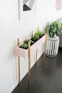 Skinny Planter Stand DIY - A Beautiful Mess