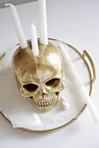 Skull Candle Holder DIY - A Beautiful Mess
