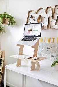 Tabletop Standing Desk DIY! | A Beautiful Mess | Bloglovin