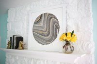 Try This: Mat Marbled Paper for Easy Wall Art!