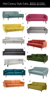 The Ultimate Mid Century Style Sofa Guide! - A Beautiful Mess