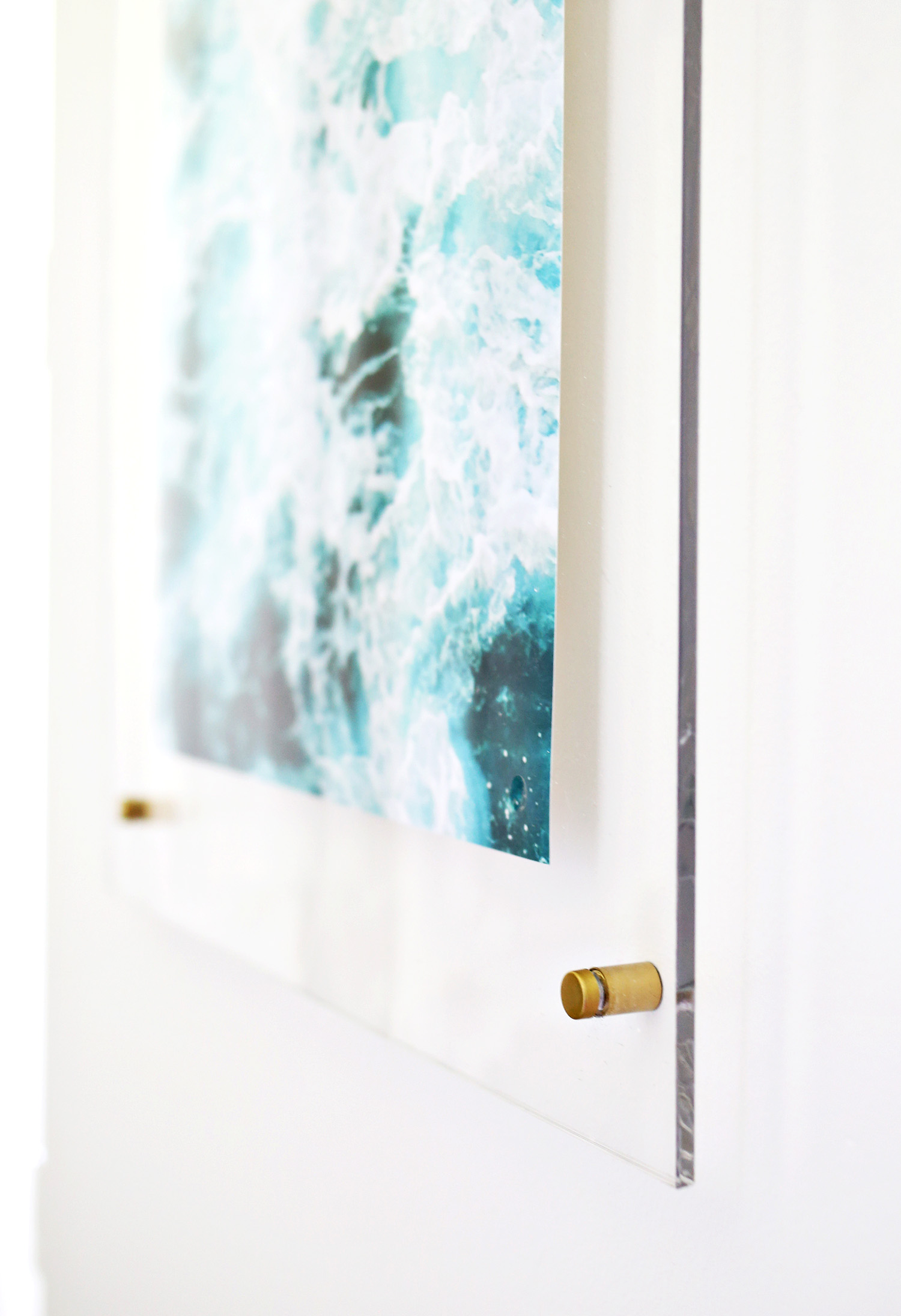 Floating Acrylic Frame DIY  A Beautiful Mess