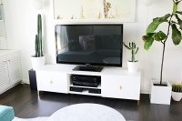 Ikea Restyle: Mid Century TV Stand  A Beautiful Mess