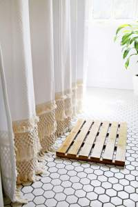 Macrame Shower Curtain DIY  A Beautiful Mess