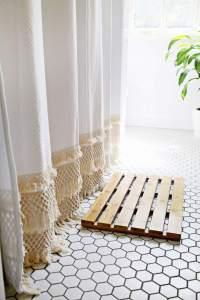Macrame Shower Curtain DIY  A Beautiful Mess