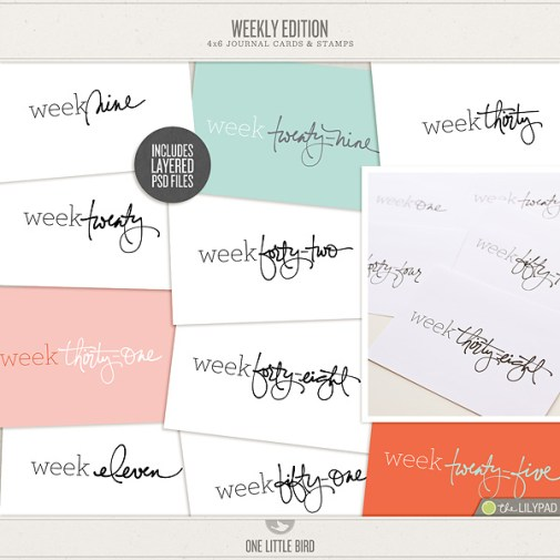Weekly Edition Journaling Cards