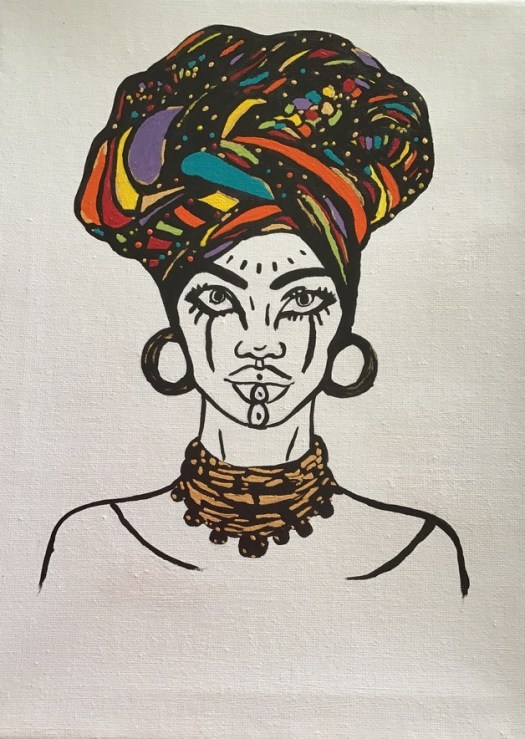 African lady 1, image 5