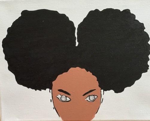 Afro girl 1: image 2
